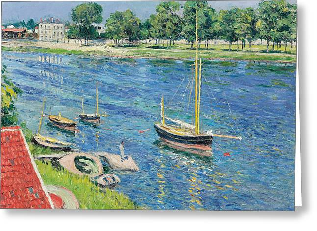 The Seine At Argenteuil Greeting Card by Gustave Caillebotte