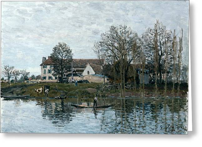 The Seine At Port Marly Greeting Card
