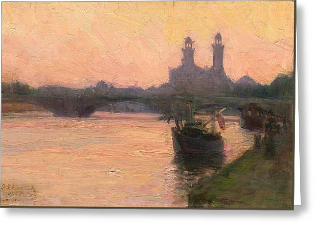 The Seine Greeting Card by Henry Ossawa Tanner