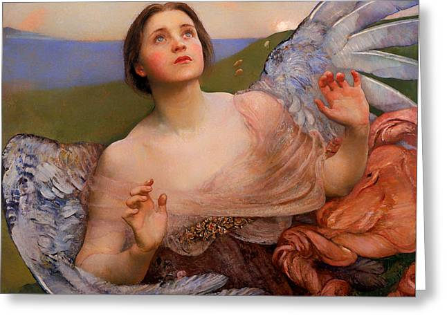 Wonderment Greeting Cards - The Sense Of Sight Greeting Card by Annie Louisa Swynnerton