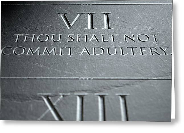 The Seventh Commandment Greeting Card