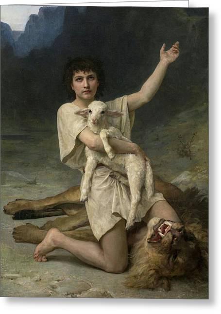 The Shepherd David Triumphant Greeting Card
