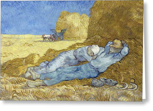 The Siesta After Millet Greeting Card