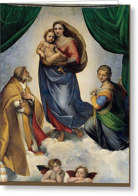 The Sistine Madonna Greeting Card by Raffaello Sanzio