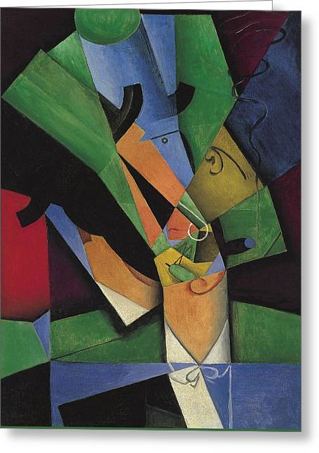The Smoker  Greeting Card by Juan Gris