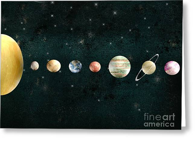 The Solar System Greeting Card by Bri B