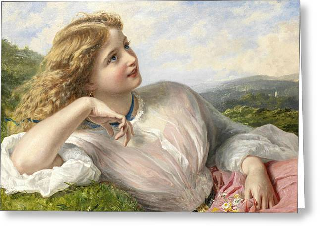 The Song Of The Lark Greeting Card by Sophie Gengembre Anderson