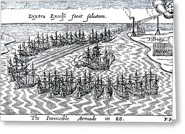The Spanish Armada Greeting Card