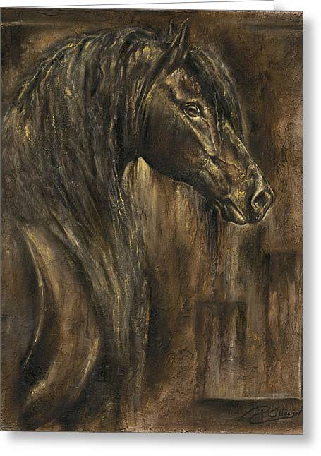 The Spirit Of A Horse Greeting Card by Paula Collewijn -  The Art of Horses