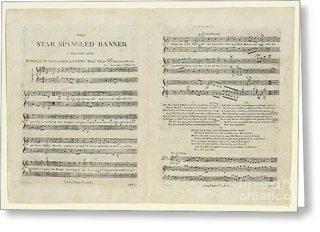 The Star Spangled Banner Greeting Card by Francis Scott Key