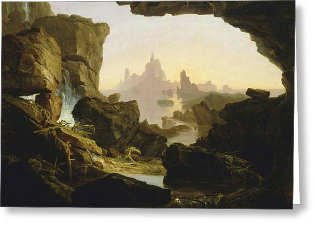 The Subsiding Of The Waters Of The Deluge Greeting Card by Thomas Cole