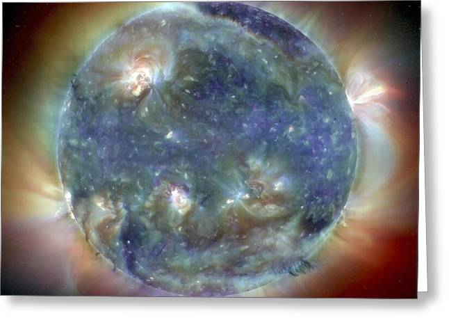 False-colored Greeting Cards - The Sun Greeting Card by Stocktrek Images