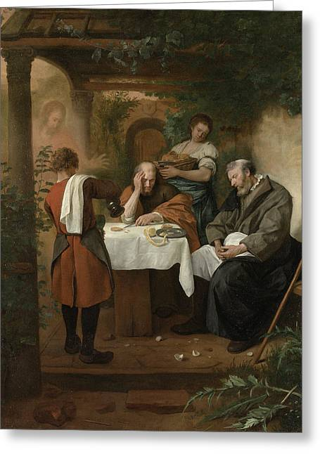 The Supper At Emmaus Greeting Card by Jan Steen