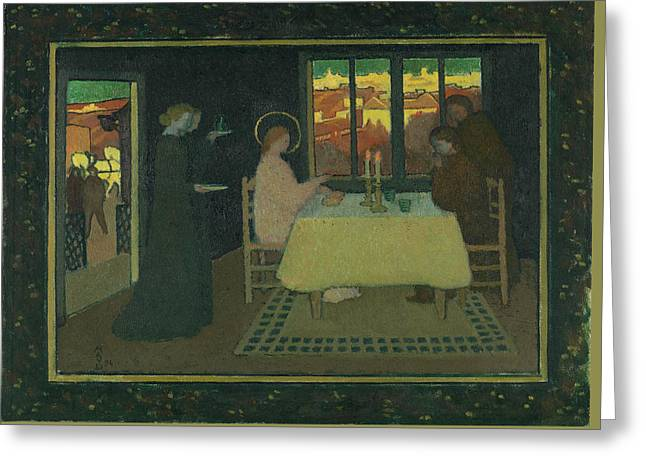 The Supper At Emmaus Greeting Card by Maurice Denis