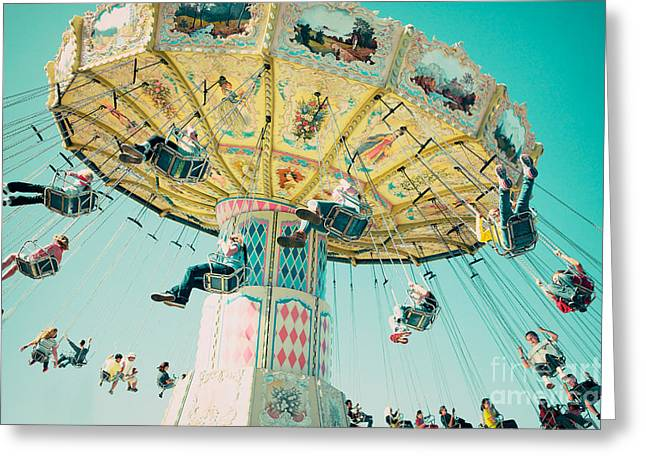 The Swings Greeting Card by Kim Fearheiley