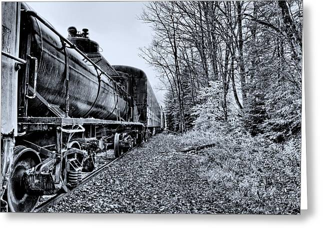 The Tanker Car Greeting Card by David Patterson