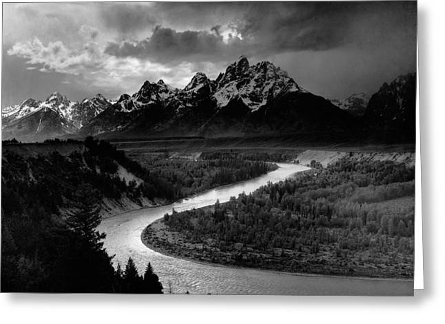 The Tetons And Snake River - Wyoming Greeting Card by Mountain Dreams