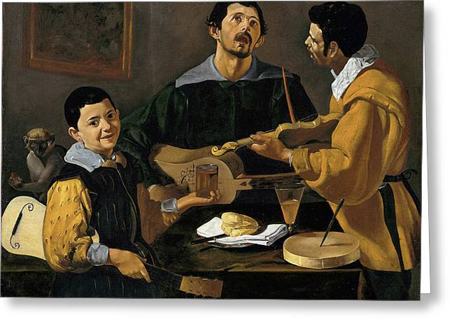 The Three Musicians Greeting Card