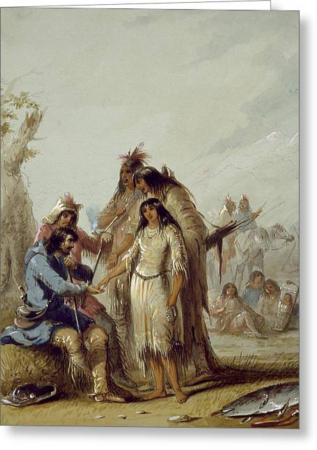 The Trapper's Bride Greeting Card