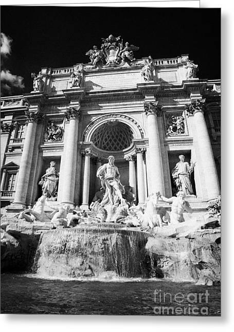 The Trevi Fountain Rome Lazio Italy Greeting Card by Joe Fox