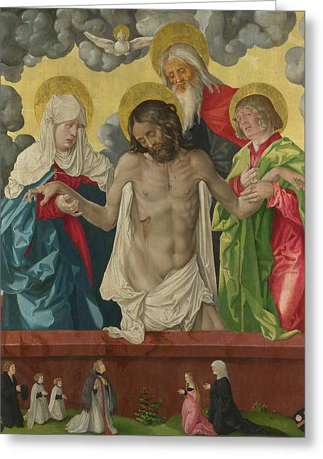 The Trinity And Mystic Pieta Greeting Card by Hans Baldung Grien