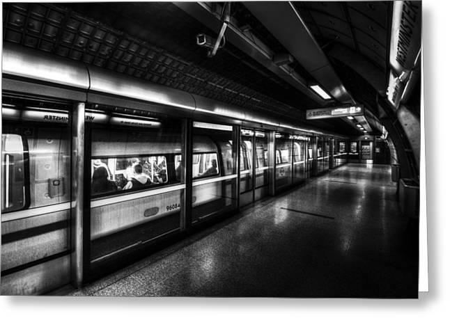The Underground System Greeting Card by David Pyatt
