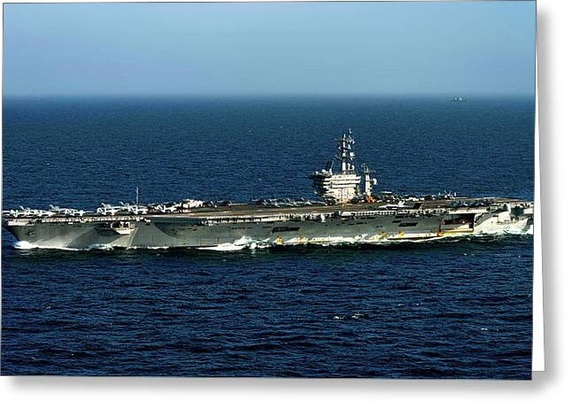 The Uss Dwight D Eisenhower Greeting Card