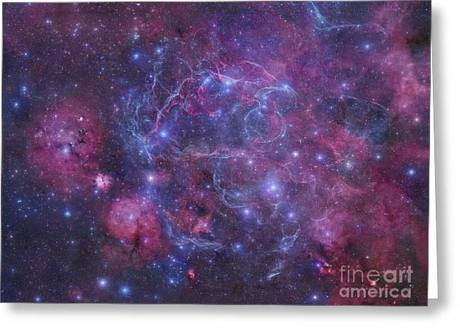 The Vela Supernova Remnant Greeting Card