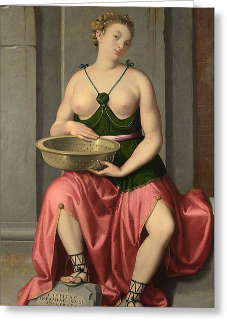 The Vestal Virgin Tuccia Greeting Card by Mountain Dreams
