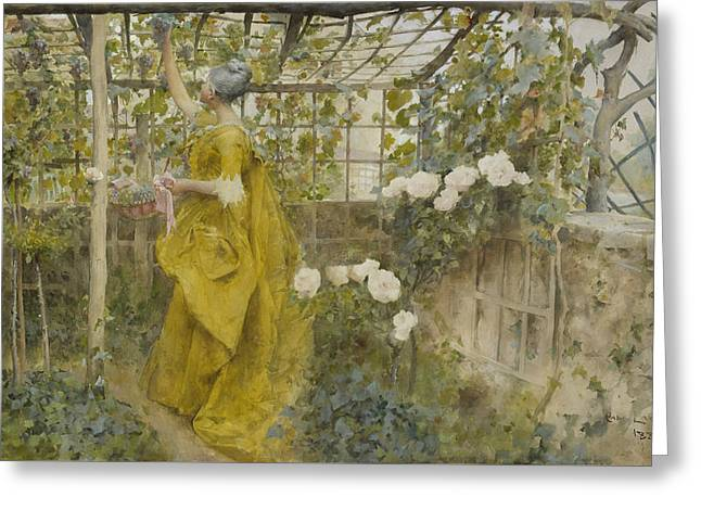 The Vine Greeting Card by Carl Larsson