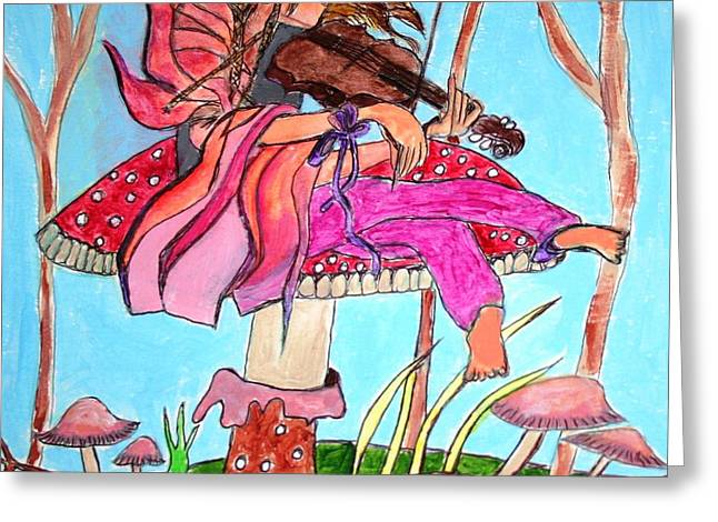 The Violinist Fairy Greeting Card