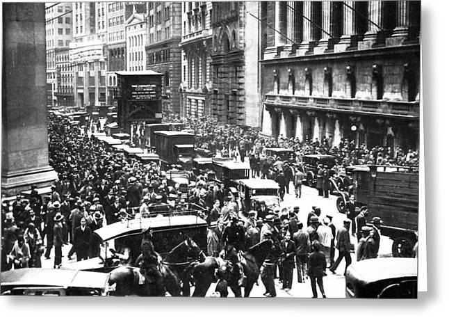 The Wall Street Crash 1929 Greeting Card by American School