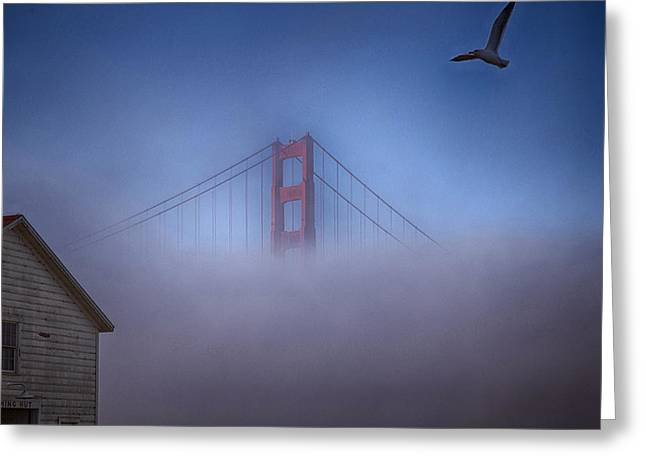 Greeting Card featuring the photograph The Warming Hut by Michael Hope