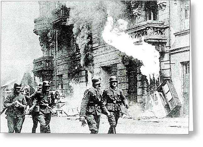 The Warsaw Ghetto Uprising Number 2 1943 Greeting Card