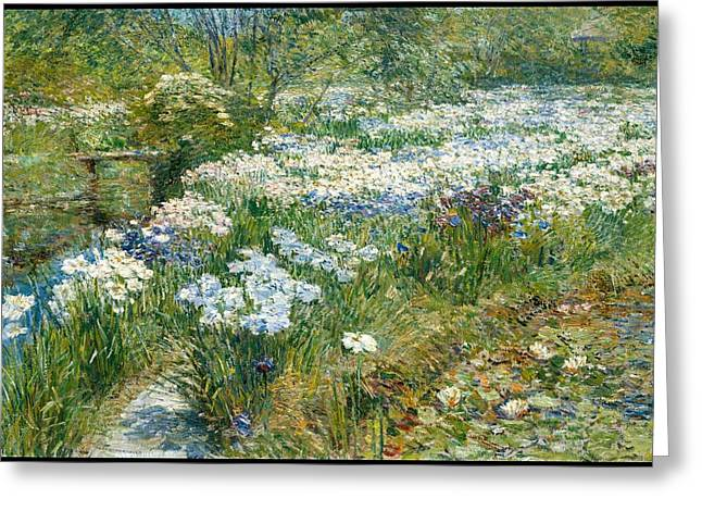 The Water Garden Greeting Card by Childe Hassam
