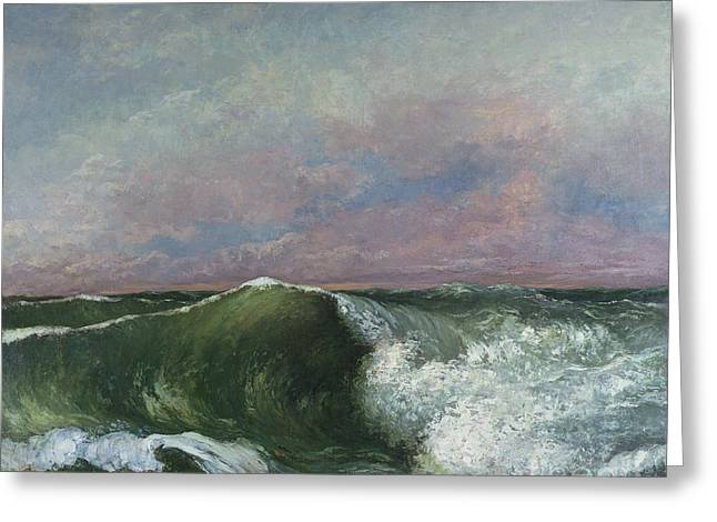 Vague Greeting Cards - The Wave Greeting Card by Gustave Courbet