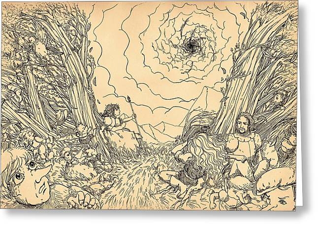 The Wave Of Time And Space Greeting Card by Reynold Jay