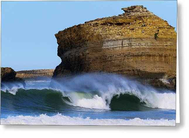 Greeting Card featuring the photograph The Wave by Thierry Bouriat