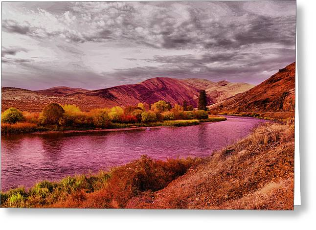 Greeting Card featuring the photograph The Yakima River by Jeff Swan