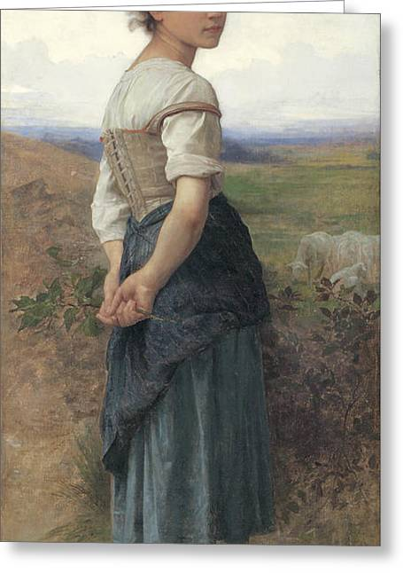 The Young Shepherdess Greeting Card by Adolphe