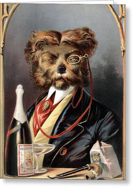 The Young Swell, Aristocratic Dog, 1869 Greeting Card by Science Source