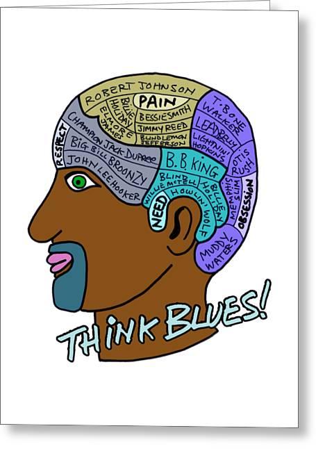 Think Blues Greeting Card