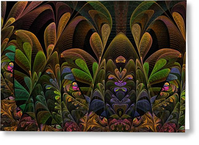 This Peculiar Life - Fractal Art Greeting Card by NirvanaBlues