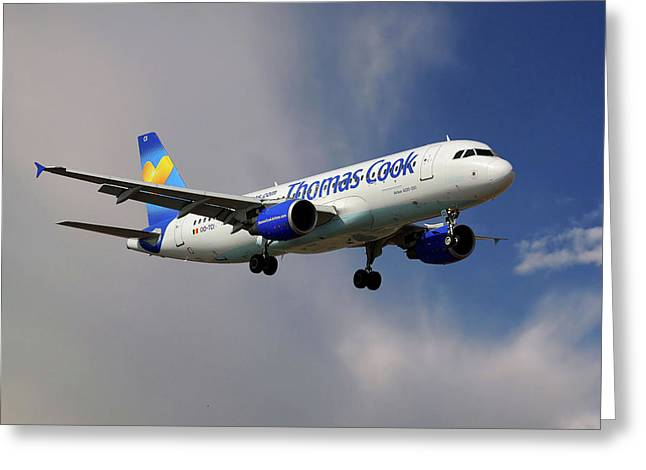 Thomas Cook Airlines Airbus A320-214 Greeting Card