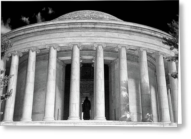 Greeting Card featuring the photograph Thomas Jefferson Memorial  by Mitch Cat