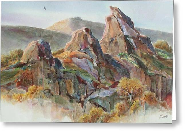 Three Sisters Greeting Card by Don Trout