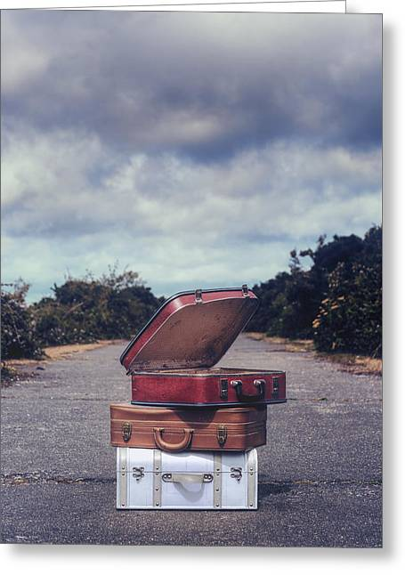 Three Suitcases Greeting Card