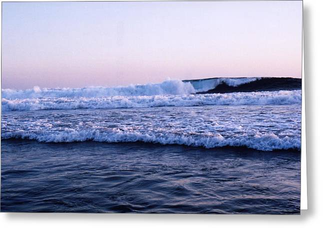 Greeting Card featuring the photograph Three Waves by Lyle Crump