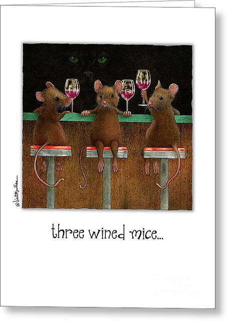 Three Wined Mice... Greeting Card