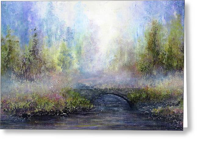 Through The Mist Greeting Card by Ann Marie Bone